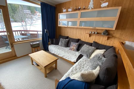 La Tania Courchevel - cozy with view on the slopes