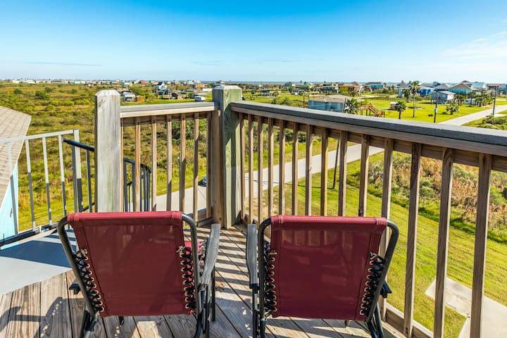 Enjoy the view from this dog-friendly home w/ multiple decks & new amenities