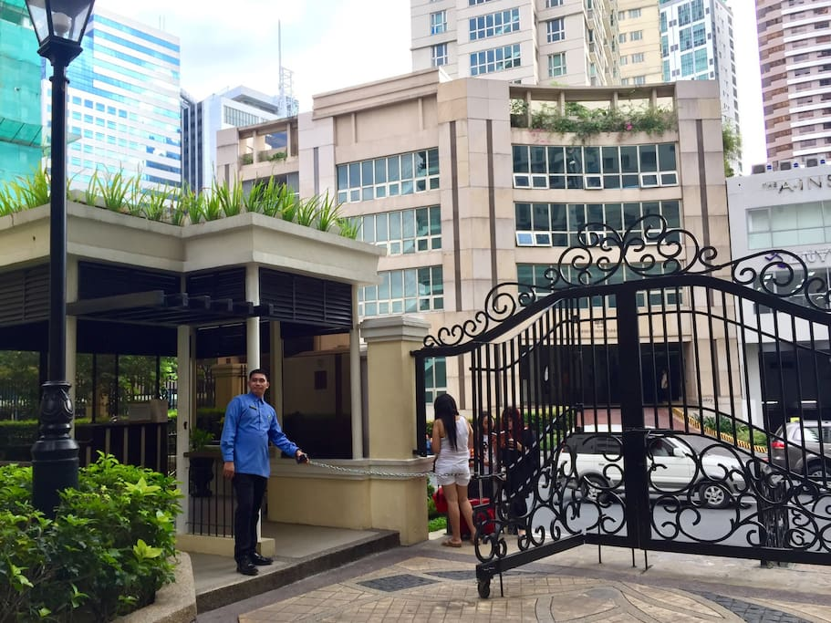 Forbeswood Heights Condominium main gate entrance (24 hour manned by Security Personnel)