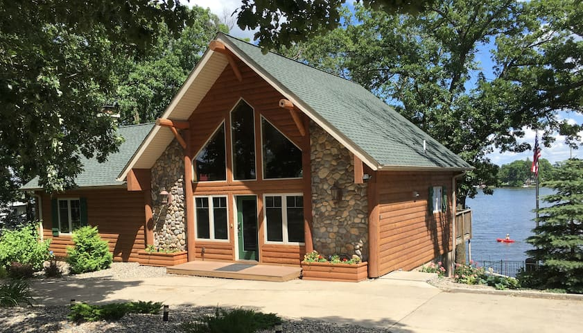 Custom Home on Big Sauk Lake. All New Photos!!