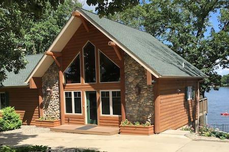 Custom Home on Big Sauk Lake. All New Photos!!