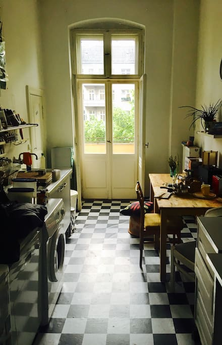 Kitchen and the balcony