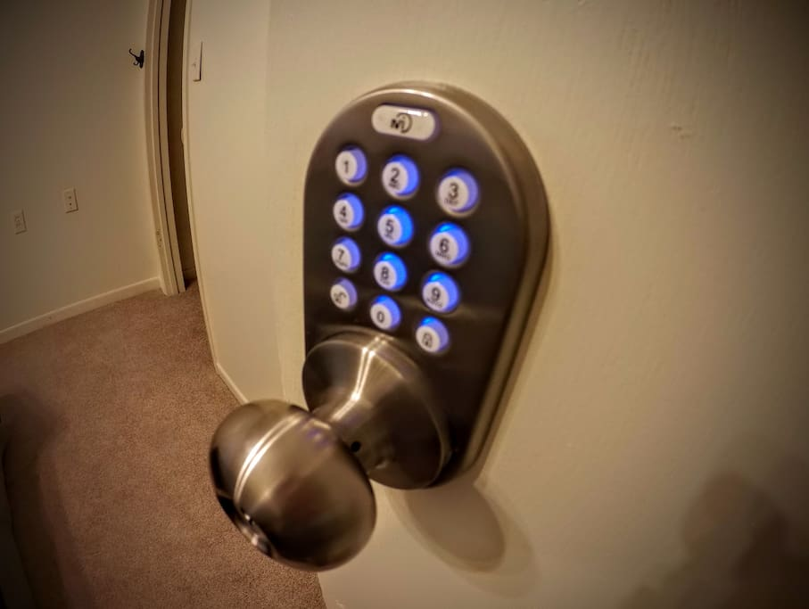 Each door locks for privacy and security