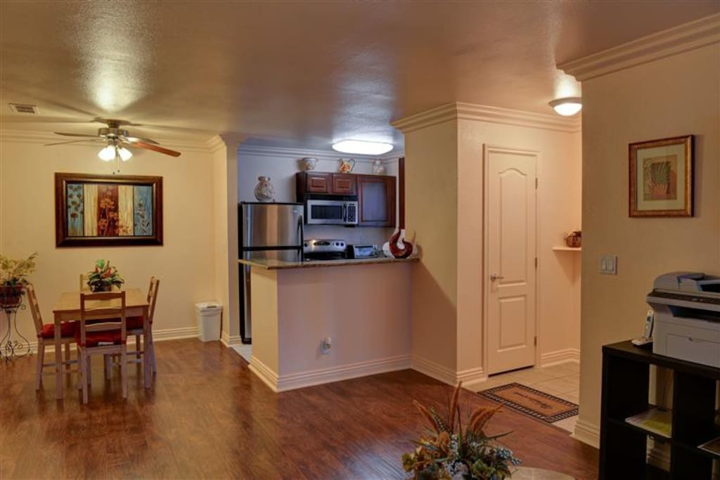 You will love this unit's beautifully appointed interior with new hardwood floors