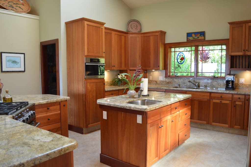 Well stocked gourmet kitchen to cook or talk with the chef.