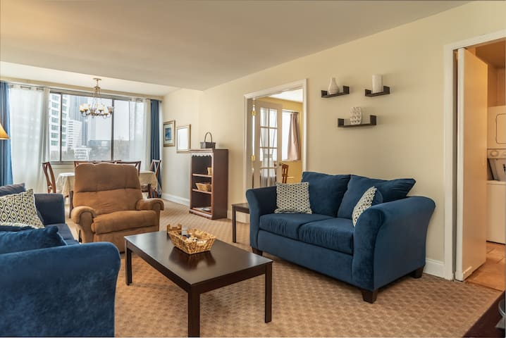 401 Central Downtown 2BD Wash/Dry❤1 Free Parking