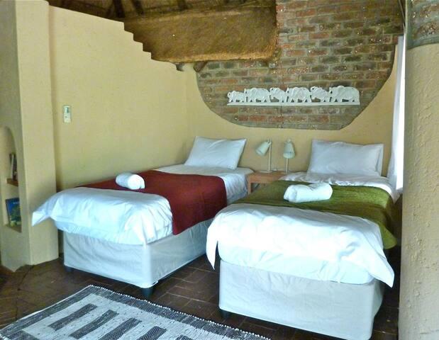 two single beds arrangement