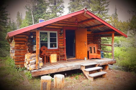 Crazy Creek Cabin # 2 . Cosy cabin by river.
