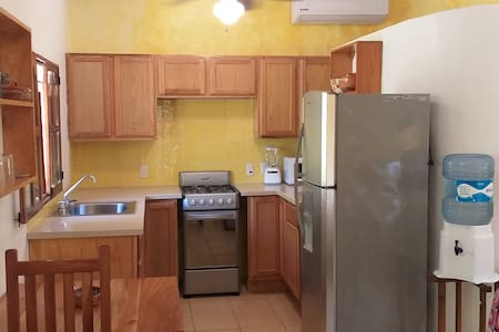 Cute Studio Apt.-Full Kitchen-80 meters to beach