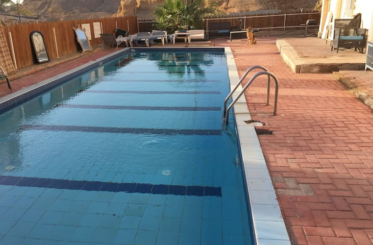 Private Room for 4 in Villa with Jacuzzi and Pool - Eilat - Villa