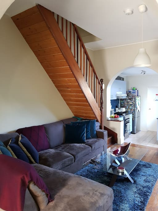 Open home living with a cosy yet spacious lounge.  Comes with a very comfortable lounge suite for you to sit down and relax on...