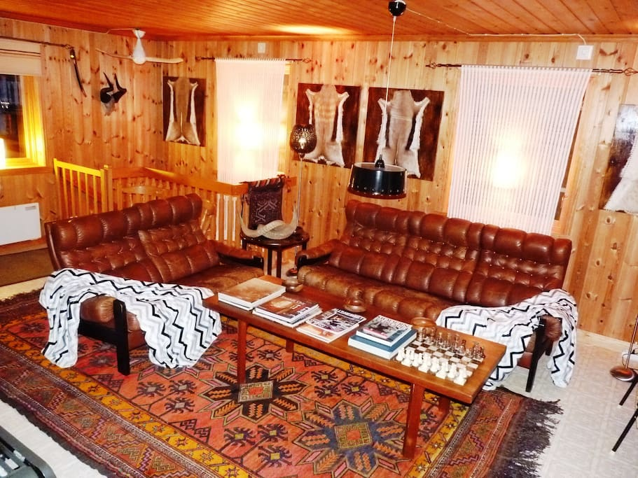 The African styled living room