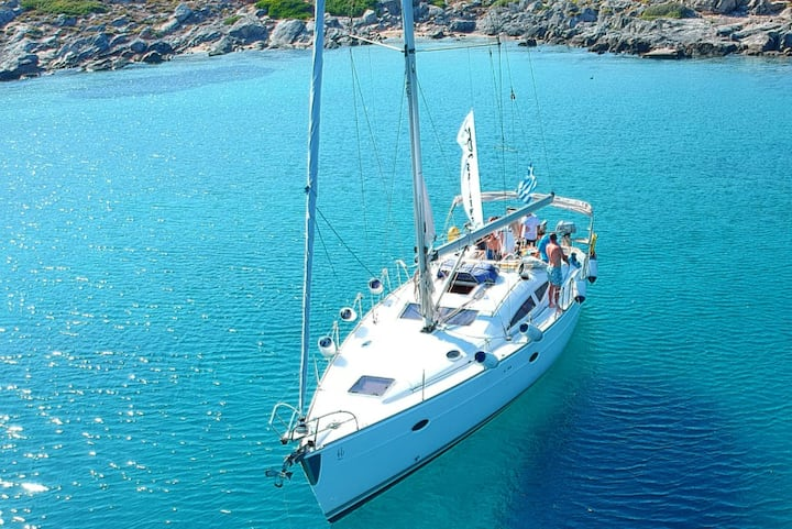 Private Day Trip to Agia Pelagia with BLU (44 ft)
