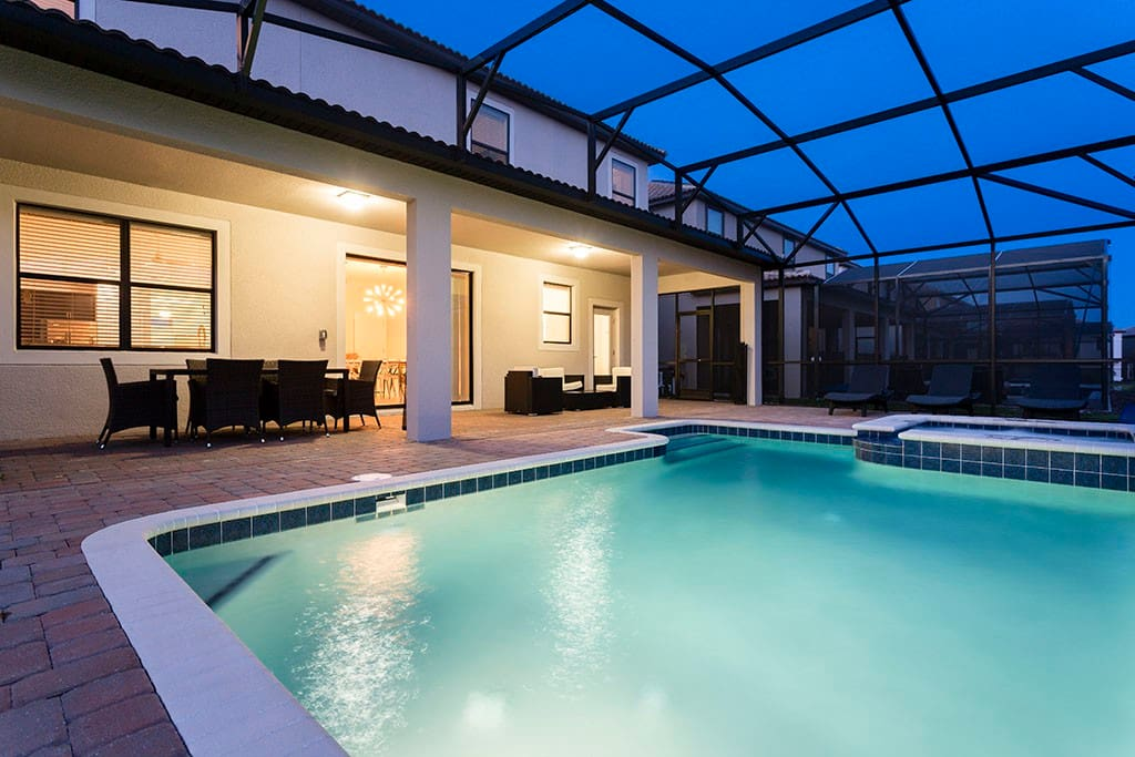The outdoor lanai is the perfect place to relax on your vacation