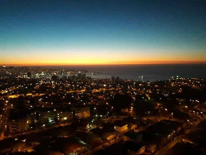 Valparaíso departamento equipado con vista al mar
