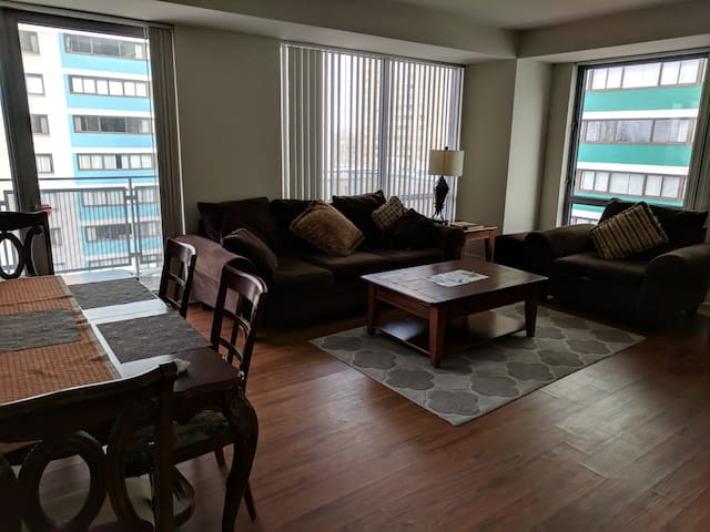 Large Cozy One Bedroom, Balcony Over Charles River
