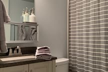 Your bathroom - including all essentials and a few extras to make your stay more comfortable.