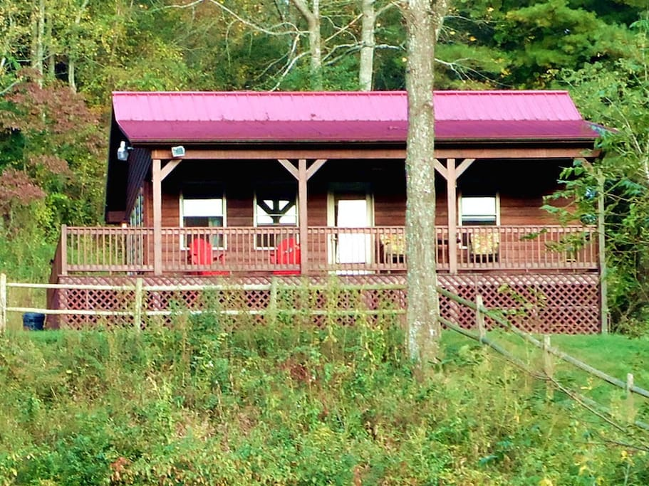 Speckled Trout Cabin in Galax, VA from the Chestnut Creek View