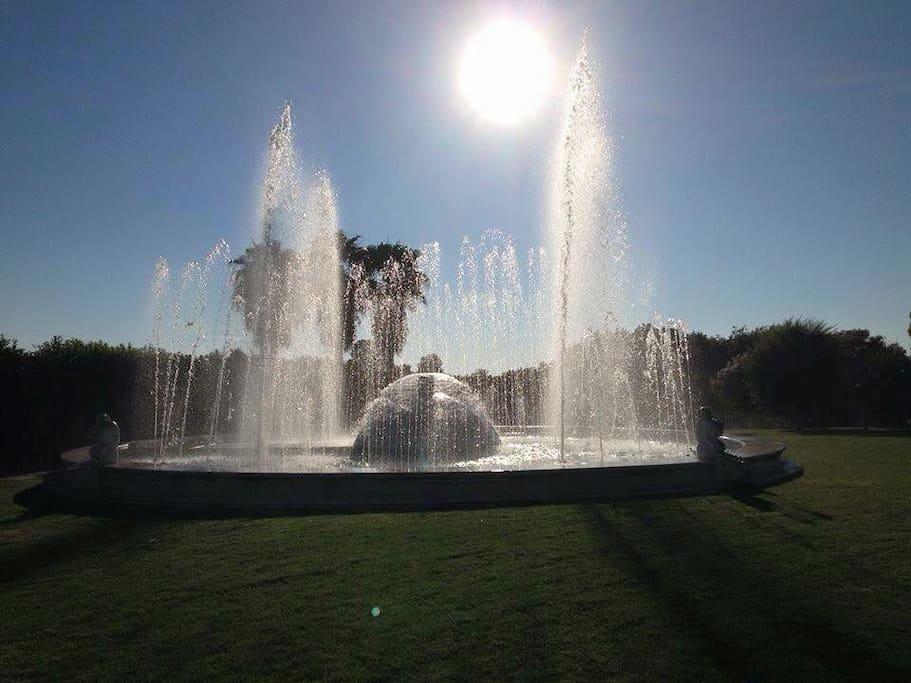 La nostra fontana accesa che mostra tutto il suo splendore