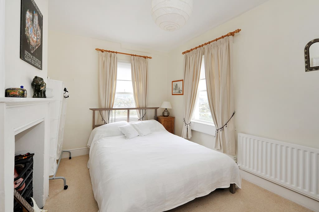 The double bedroom with wonderful views of Bath