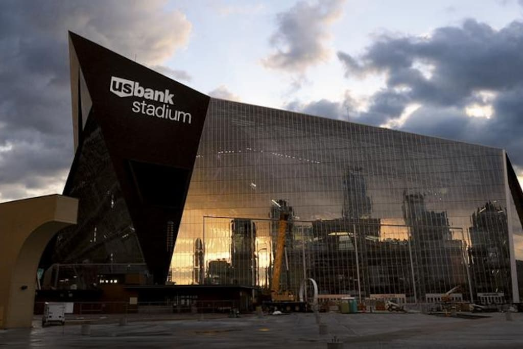 U.S. Bank Stadium is just outside my door