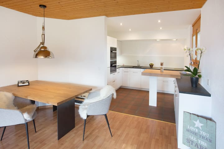 Sonnige 2.5 Zi-Wohnung am Skilift - Falera - Apartament