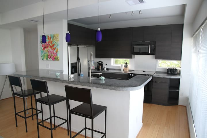 The kitchen has ample room to make yourself at home and prepare a meal for you and your guests.