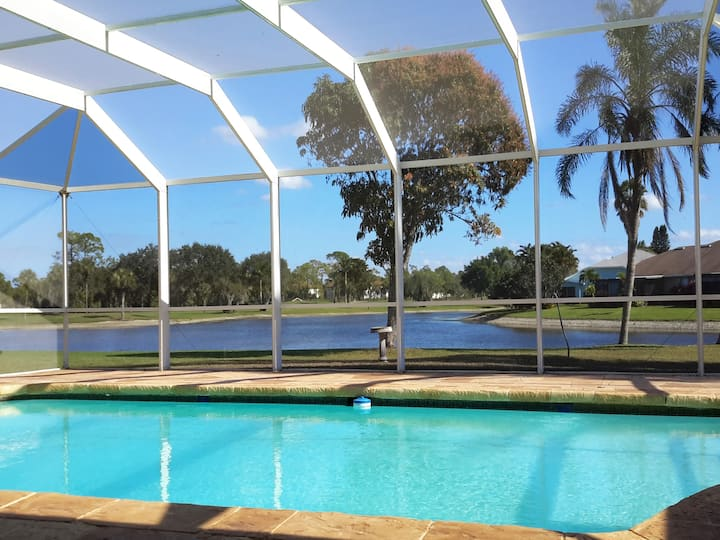Heated Private Pool Lakefront Golf Naples Villa