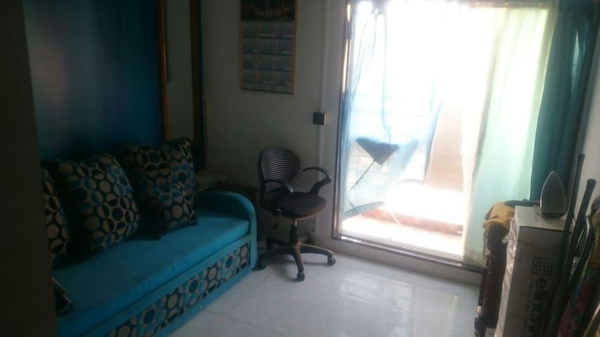 Bedroom 1. The sofa-cum-bed.
