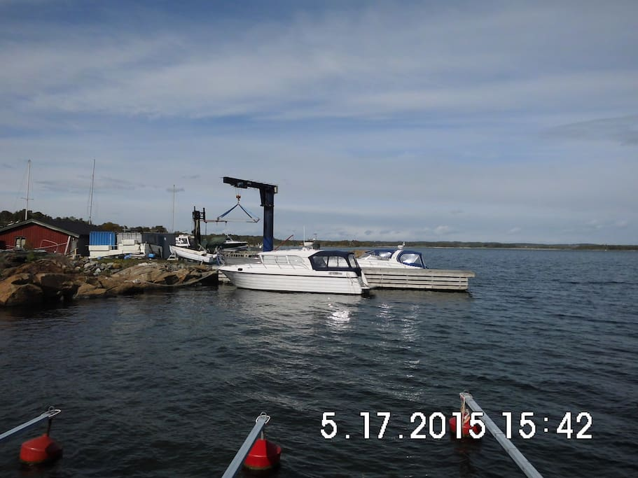own dock and marina, just 100 meters from the property