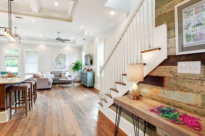 """""""walking into the home, our home opens up to a great space to congregate after a long day out and about in New Orleans!"""""""