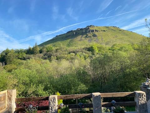 Mynydd (mountain) View in the Afan Forest