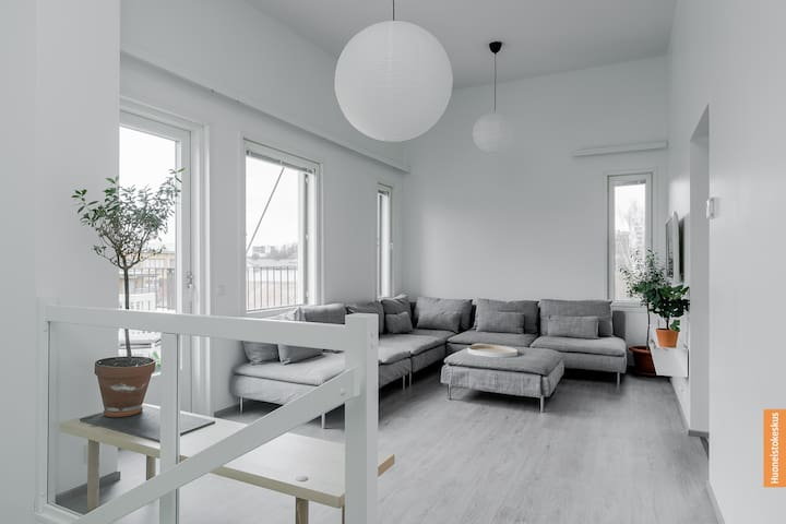 New lux 2floor loft-style 87m² apartment by River