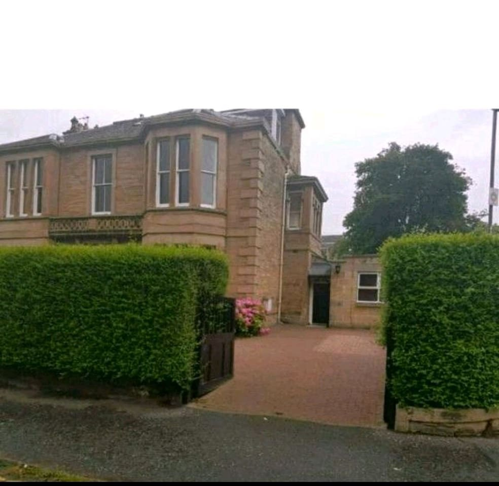 The main house - secluded Victorian villa in own grounds, coach house to the right