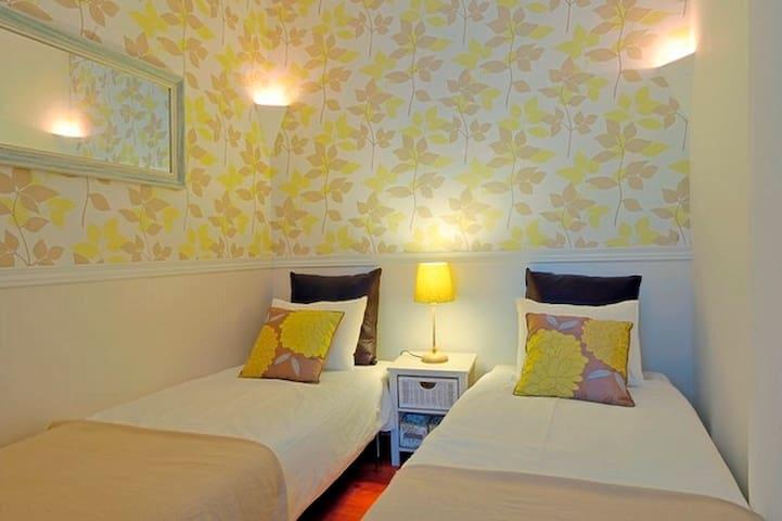 Room 4 with 2 single beds (internal room , no windows)