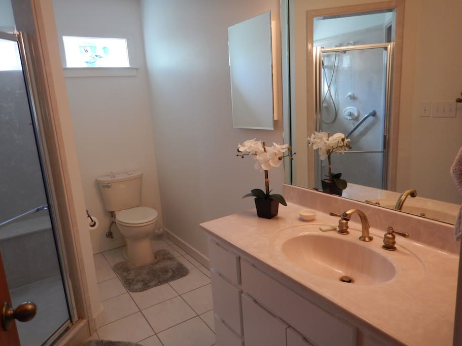 His and hers master bath.