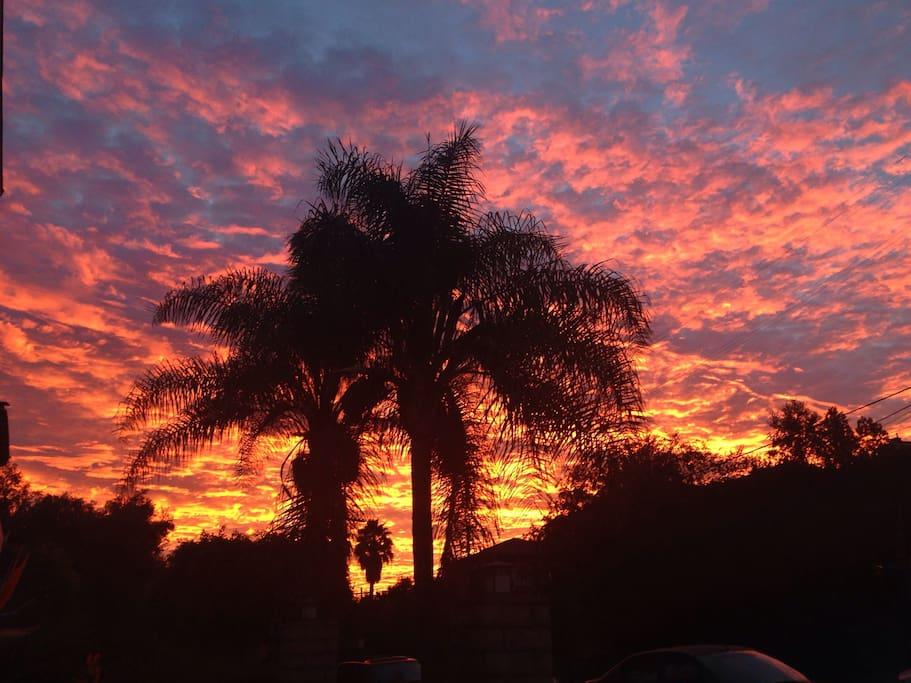 LA Sunrise from outside apartment
