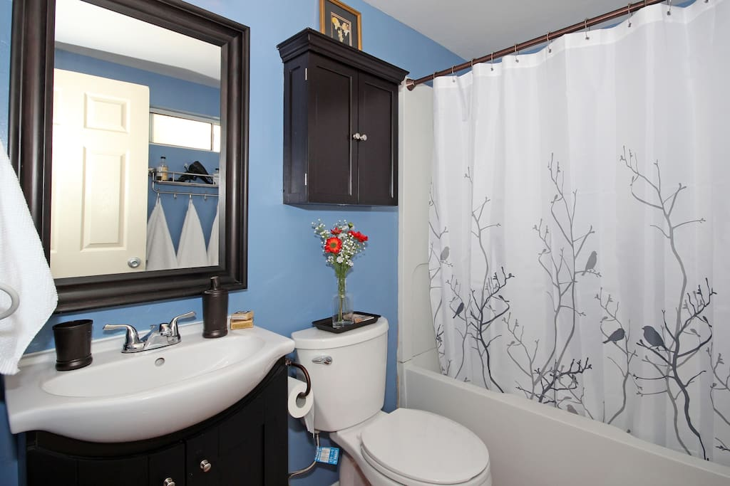 Large bright bathroom