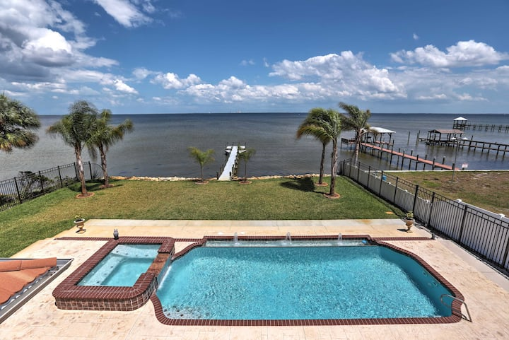 Waterfront Titusville Resort Home w/Pool & Hot Tub
