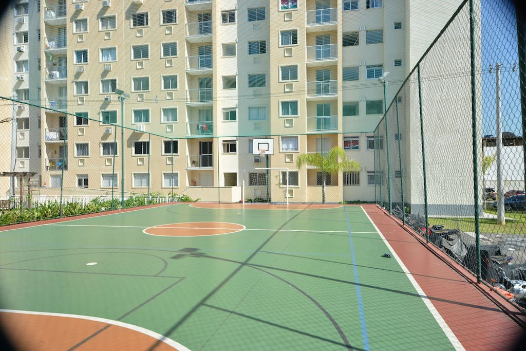 Soccer, basketball and volley court