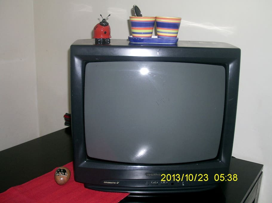 A TV set for the room.