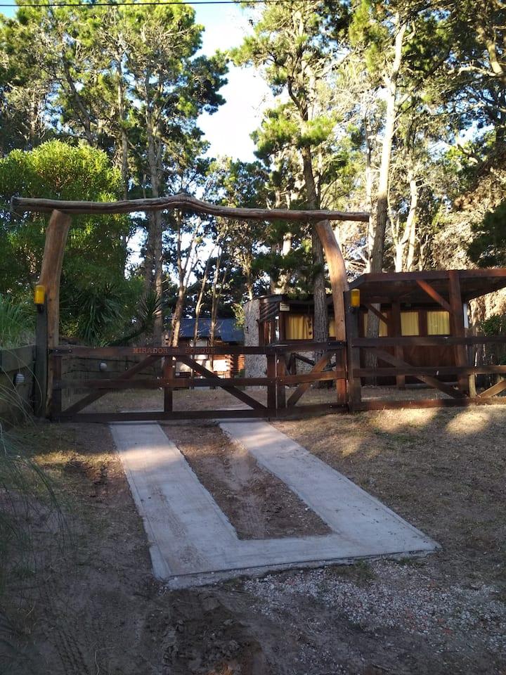 Cabaña en mar azul para 2-3 pers miradordel bosque