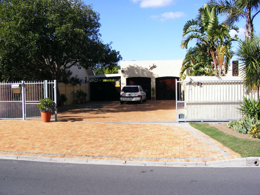 Secure off-street parking and private entrance