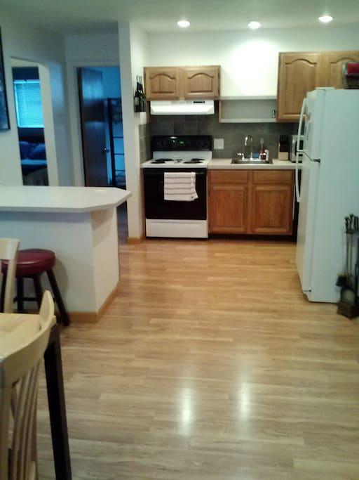 Wide-open Kitchen