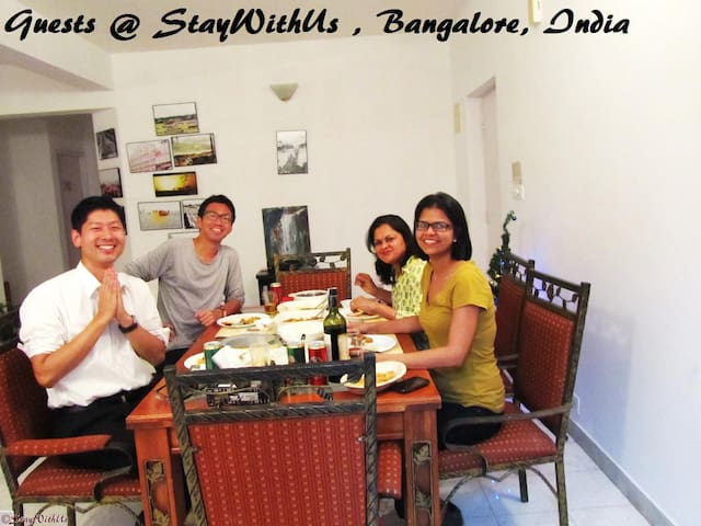 2c.Home away from home-StayWithUs - Bangalore - Leilighet