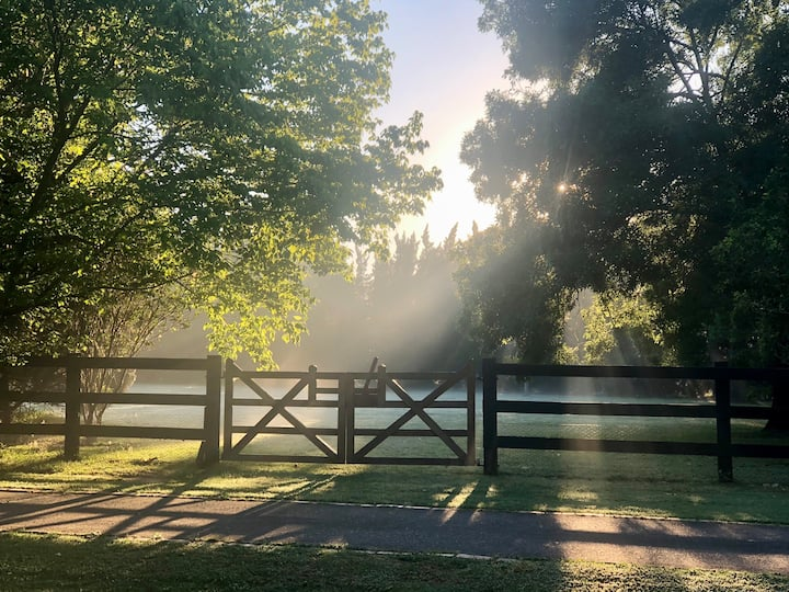 Escape to a picturesque equestrian property...