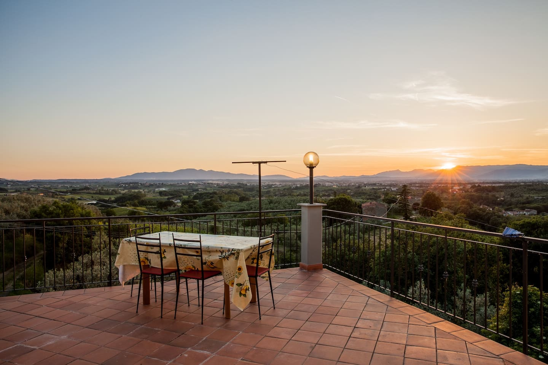 Terrazza panoramica vista mare Tirreno