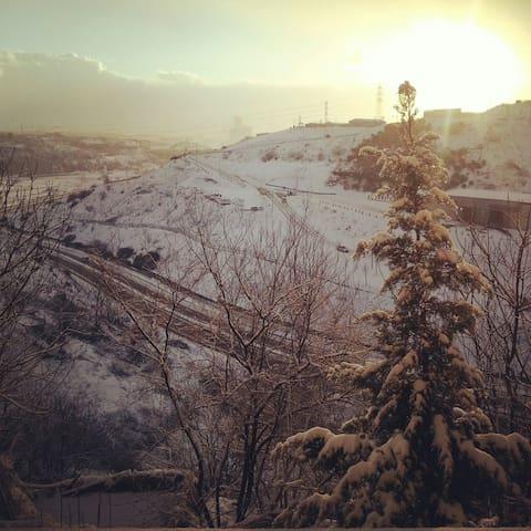 Essiz kış manzarasi