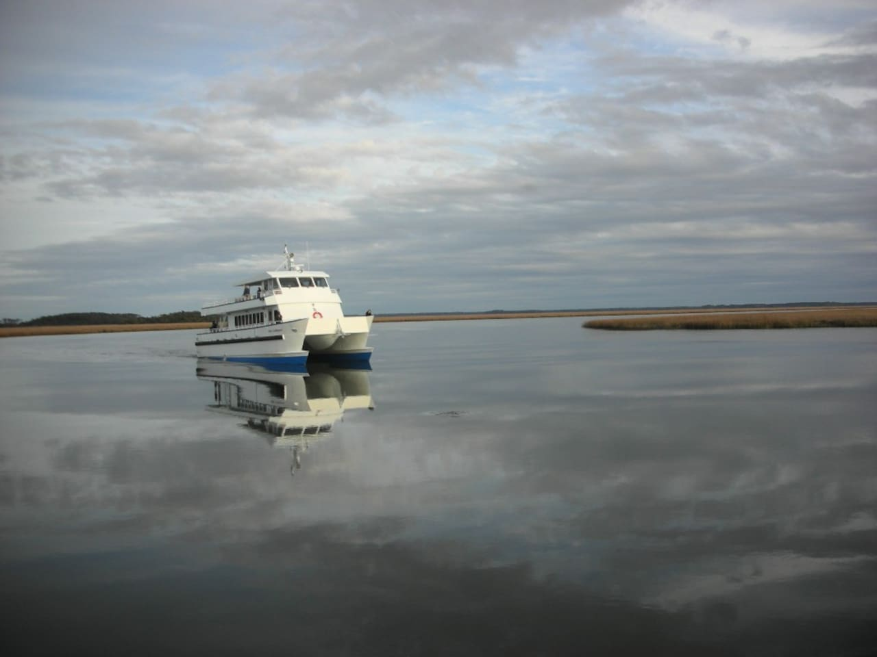 Your transport to My Sapelo Retreat, the passenger ferry Katy Underwood