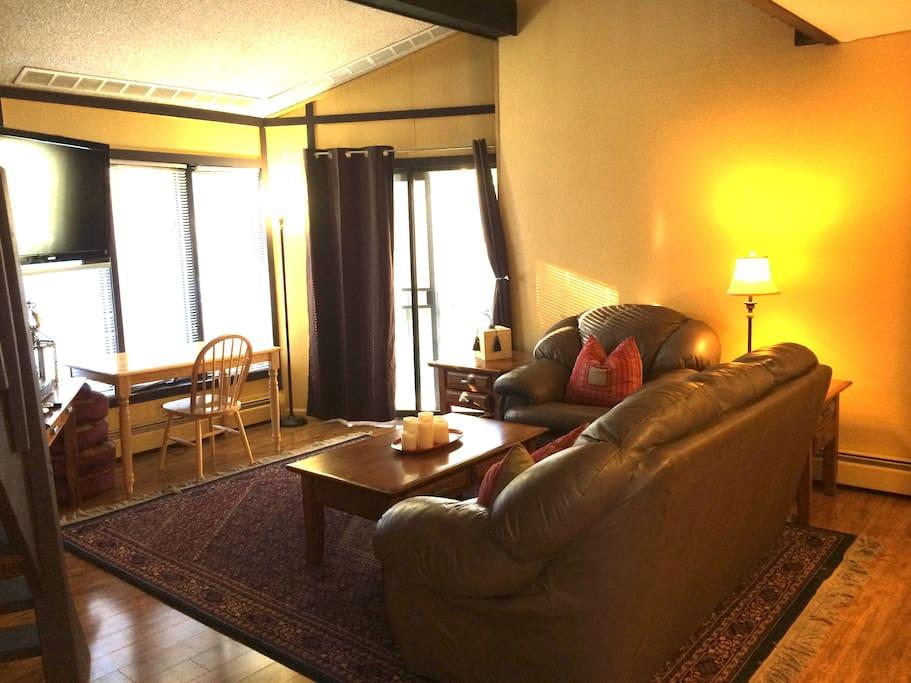 Oh so comfy living area.
